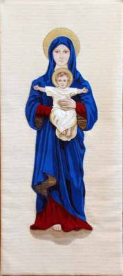 Lectern hanging of Madonna & Child
