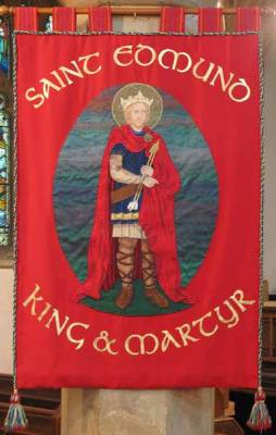 St Edmund Banner - Designed and worked by Wendy Oakeshott