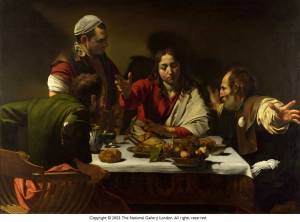 Caravaggio, 'The Supper at Emmaus' (1601)