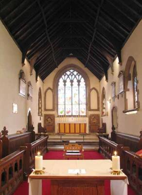 The Chancel is as about the same length as the Nave.