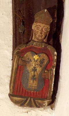 Either St Augustine or St Thomas of Canterbury? (pallium)