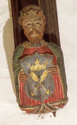 St Edmund of East Anglia (crown and arrows)