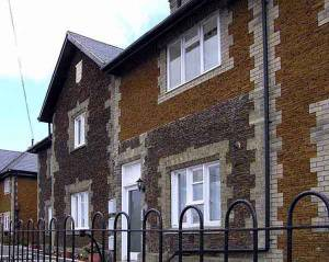 Constabulary (1859) now flats - the new carstone shows why Downham was known as the 'gingerbread town'.