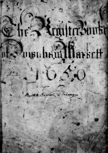 Baptism Register Frontispiece 1650
