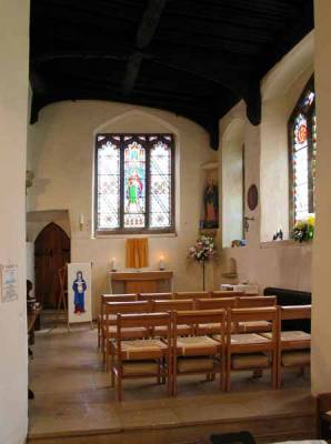 Lady Chapel - as it looks now, following the 2004 reordering.  (Note the more proportionate altar, and now 12 can be seated.)