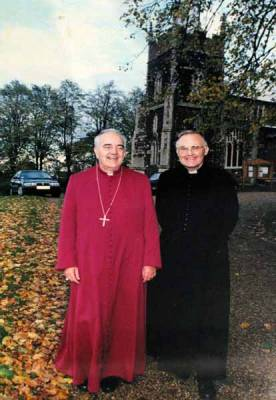 Fr. Peter Frank Keeling SSC 1983 - 2000 (with the Rt Revd John Richards, the first Bishop of Ebbesfleet)