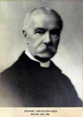 The Revd Thomas Jervis-Edwards 1902 - 1908