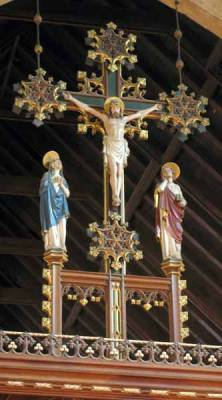 The Rood.  Our crucified Lord with Our Lady and St John (Jn19)