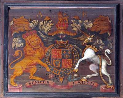 Royal Arms - Queen Anne - painted between 1707 and 1714