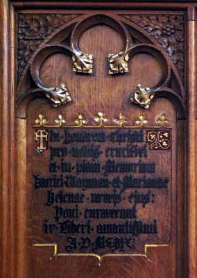 In pious memory of Henry Wayman and his wife Helene