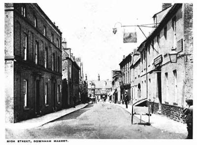 High Street, looking north from the Priory Road junction, c.1905.