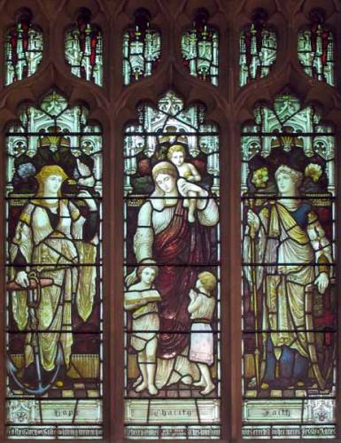 North Aisle - The Three Graces - Faith Hope & Charity