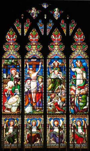 East window - designed by William Wailes 1874