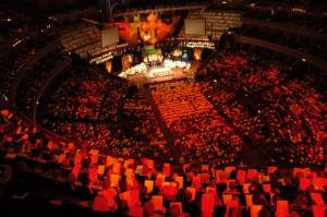 The people join their priests in a grand celebration at the Royal Albert Hall, in thanksgiving to God for SSC